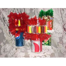 soda pop/candy bouquet