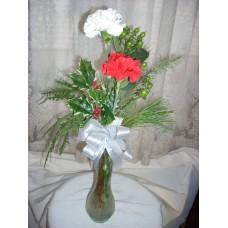Carnation (3) Bud Vase